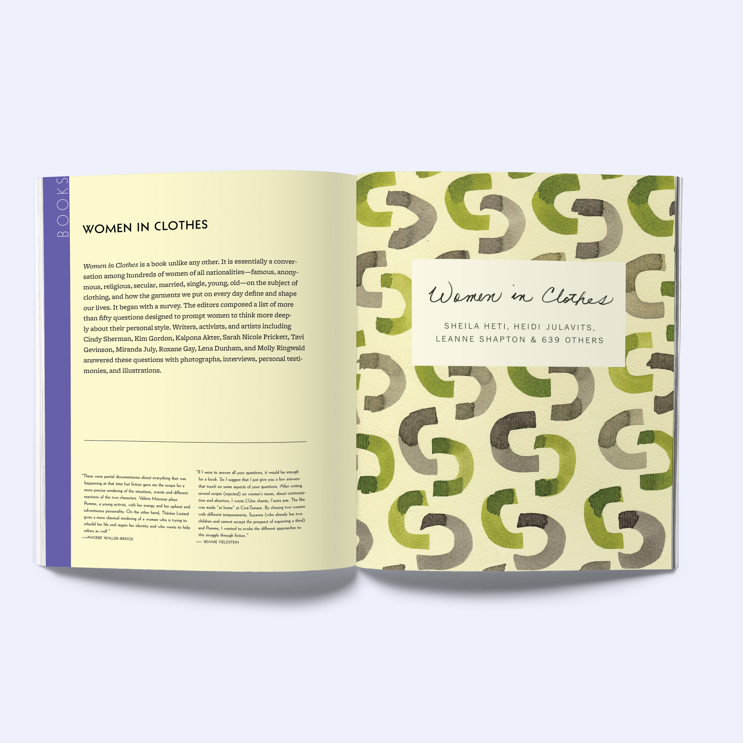Recommendations for a Young Feminist: interior book design
