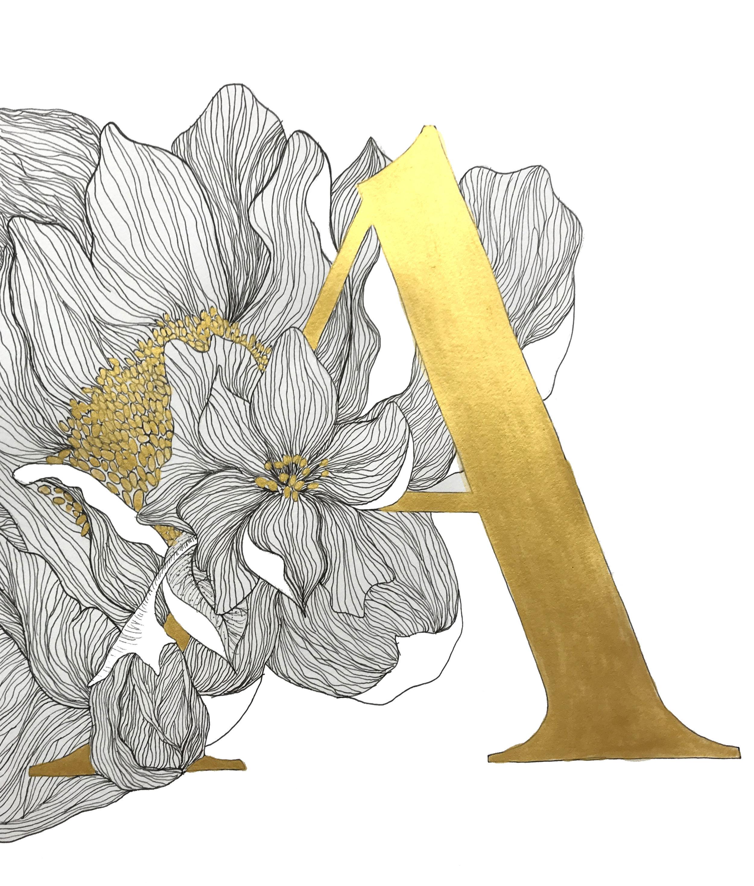 """9"""" x 12"""" - Floral A 2"""