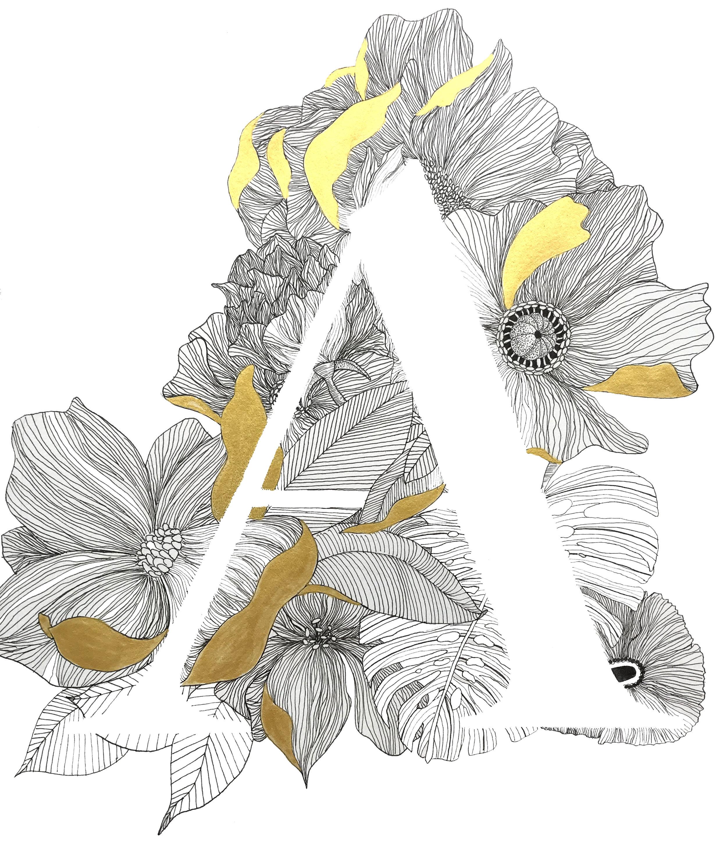 """9"""" x 12"""" - Floral A 1"""