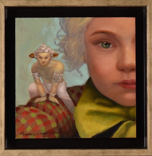 """Peter Pam, """" I will always be waiting on me.""""  Oil on Panel, 6 x6 inches, 2018, SOLD"""