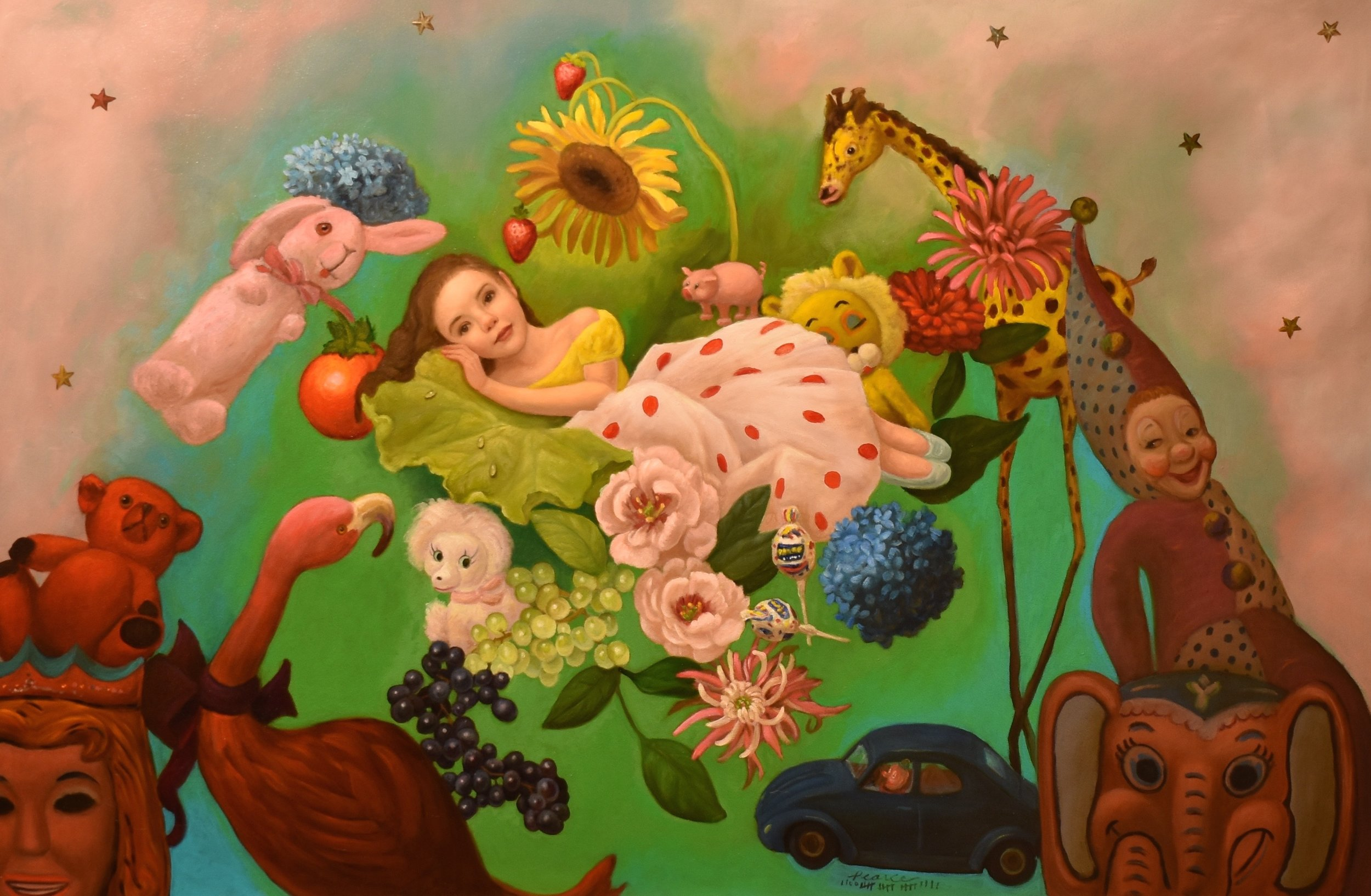 But a Dream , 42 x 28 inches, Oil on Panel, 2019 Available  Before the unknown  There was a dreamer  Resting in eternity  Among all the masses