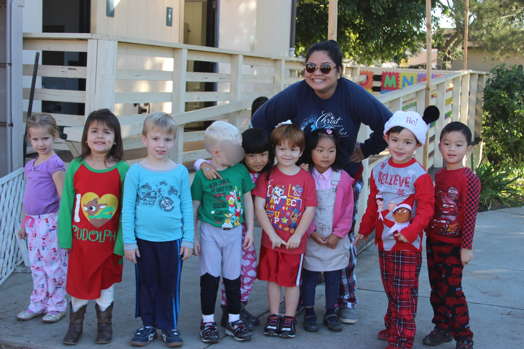 Christ the Cornerstone Academy Pajama and Christmas Movie.JPG