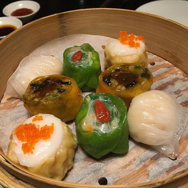 Assorted shu mai dim sum at @hakkasansf 🤗