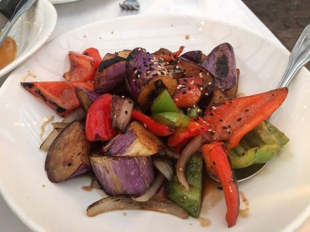 One of the few appropriate times to use this emoji. 🍆🍆🍆 Perfectly sautéed veggies. YUM!