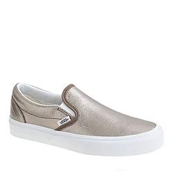 vans leather metallic classic slip-on shoes.