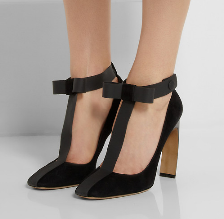 the t-strap. the heel. the bow : perfect 10.