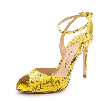 snakeskin sandal.