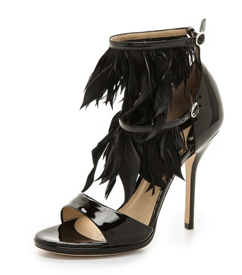 amazon feathered heels.