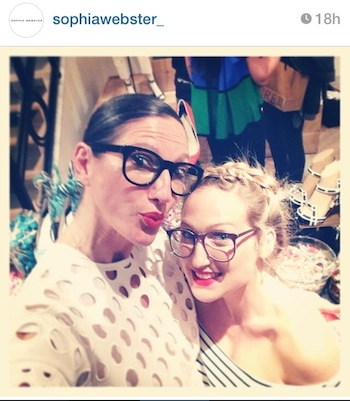 jenna lyons and sophia webster. #regram sophiawebster_