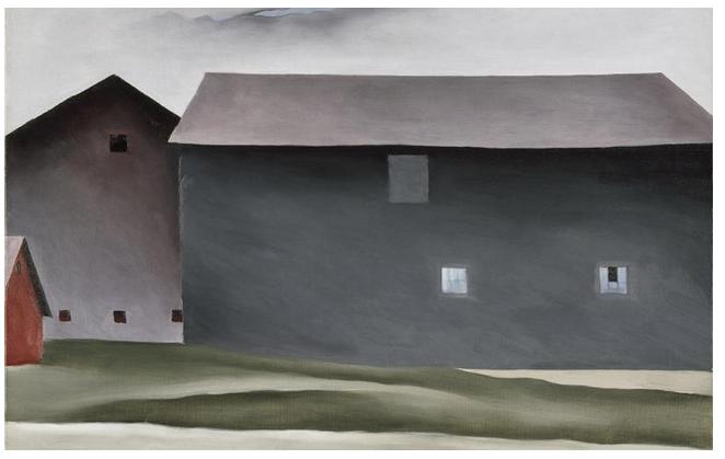 lake george barns. 1926. oil on canvas.