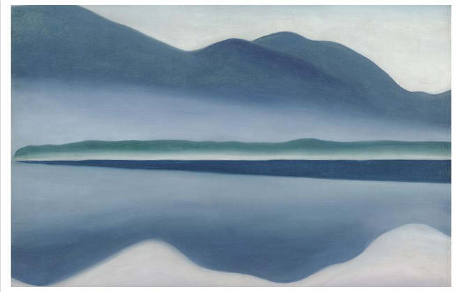 lake george (formerly reflection seascape). 1922. oil on canvas.