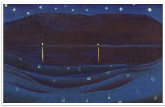 starlight night. 1922. oil on canvas.