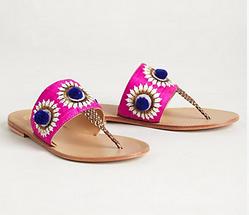 needlework sandals.