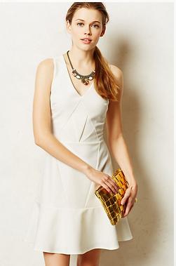 ivorie seamed dress.