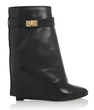 shark lock ankle boots.