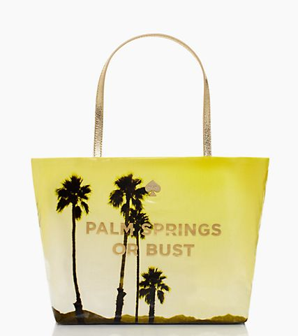 palm springs or bust tote.