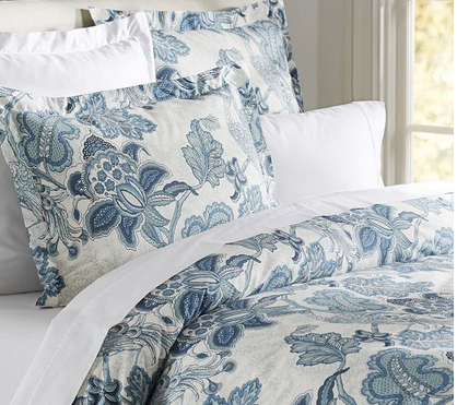 our pottery barn sheets. paige palampore they're on sale now if you want to get them!