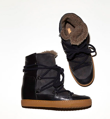ISABEL MARANT NOWLES BOOT, BLACK.
