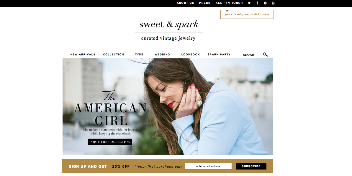 Check out the new Sweet and Spark site! Shop perfect pieces now!