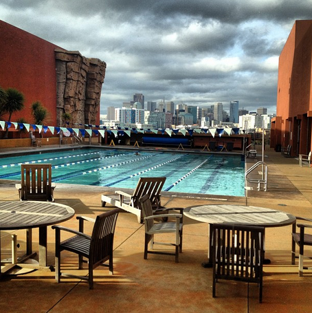 Outdoor Roof Top Pool at UCSF.