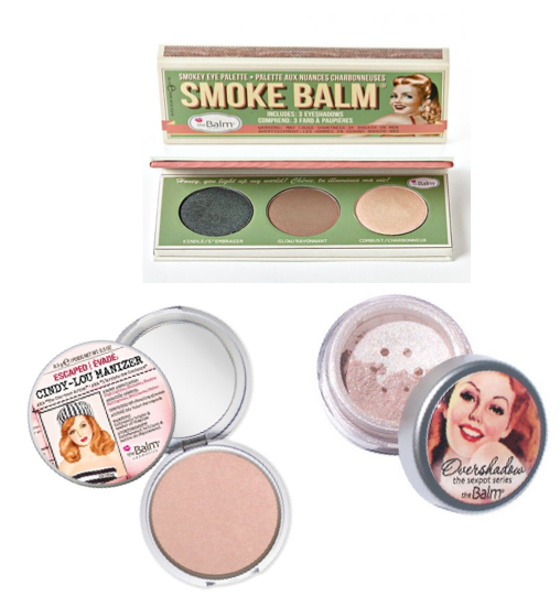 """Eyes:   Smoke Balm #1      w/ a hint of mint green highlight (Balm Voyage shade B2 ) // Overshadow:   """"Work is Overrated""""  // Cheeks:    Cindy Lou-Manizer"""