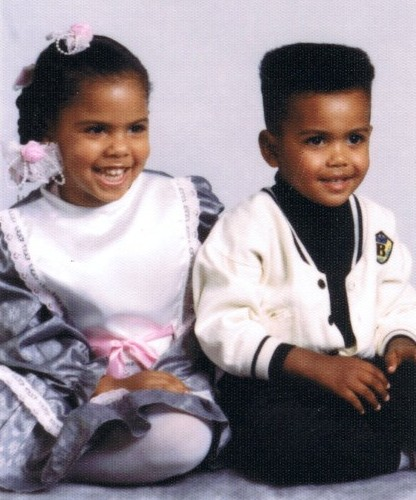 Kamaal and Londale, Jr., 1990, ages 4 and 3