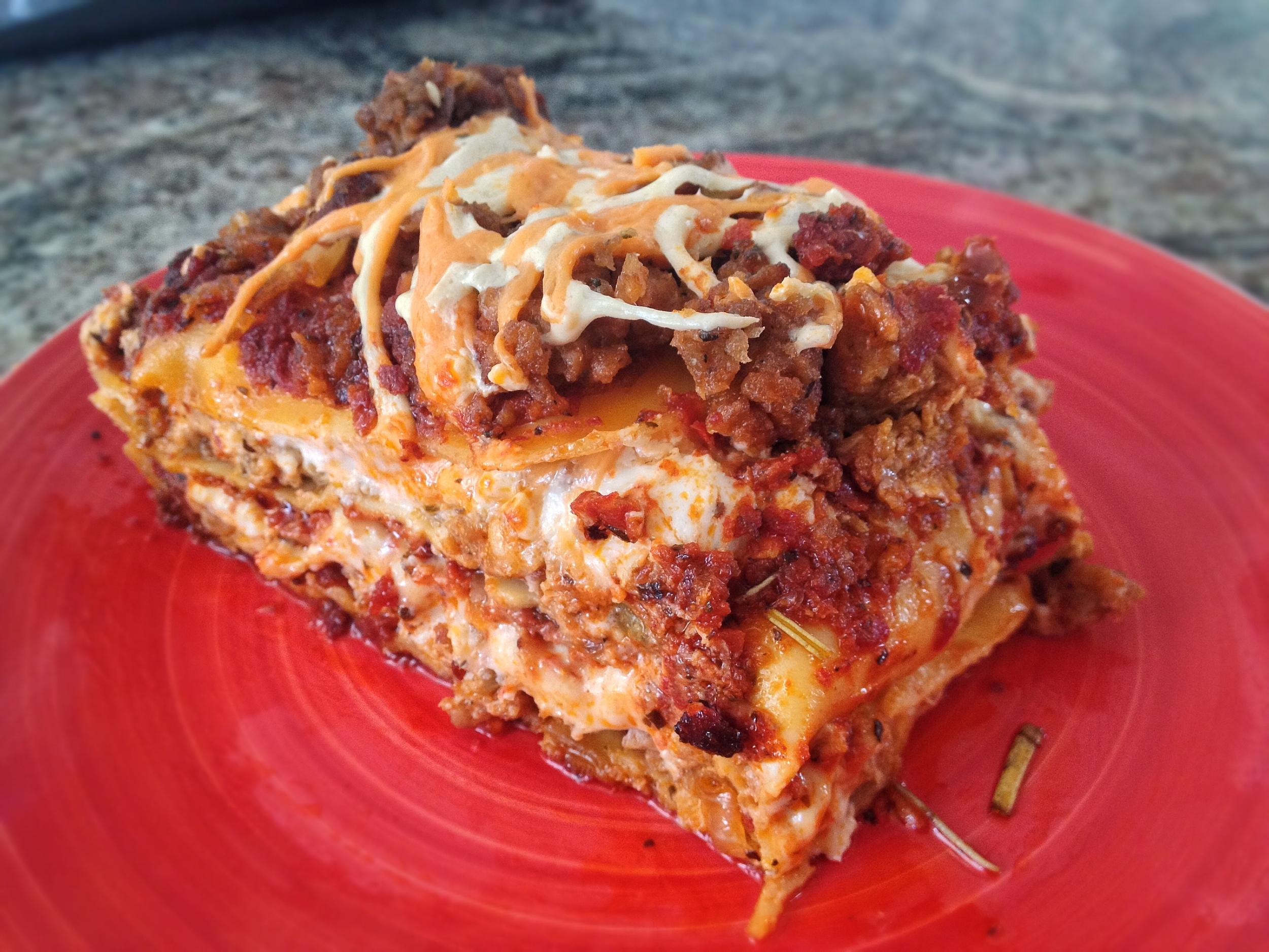Lasagna with Meatless Sauce