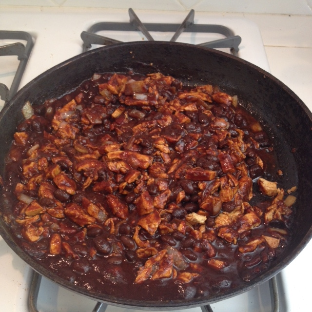 BBQ Black Beans and Chik'n Over Rice - Step 2.JPG