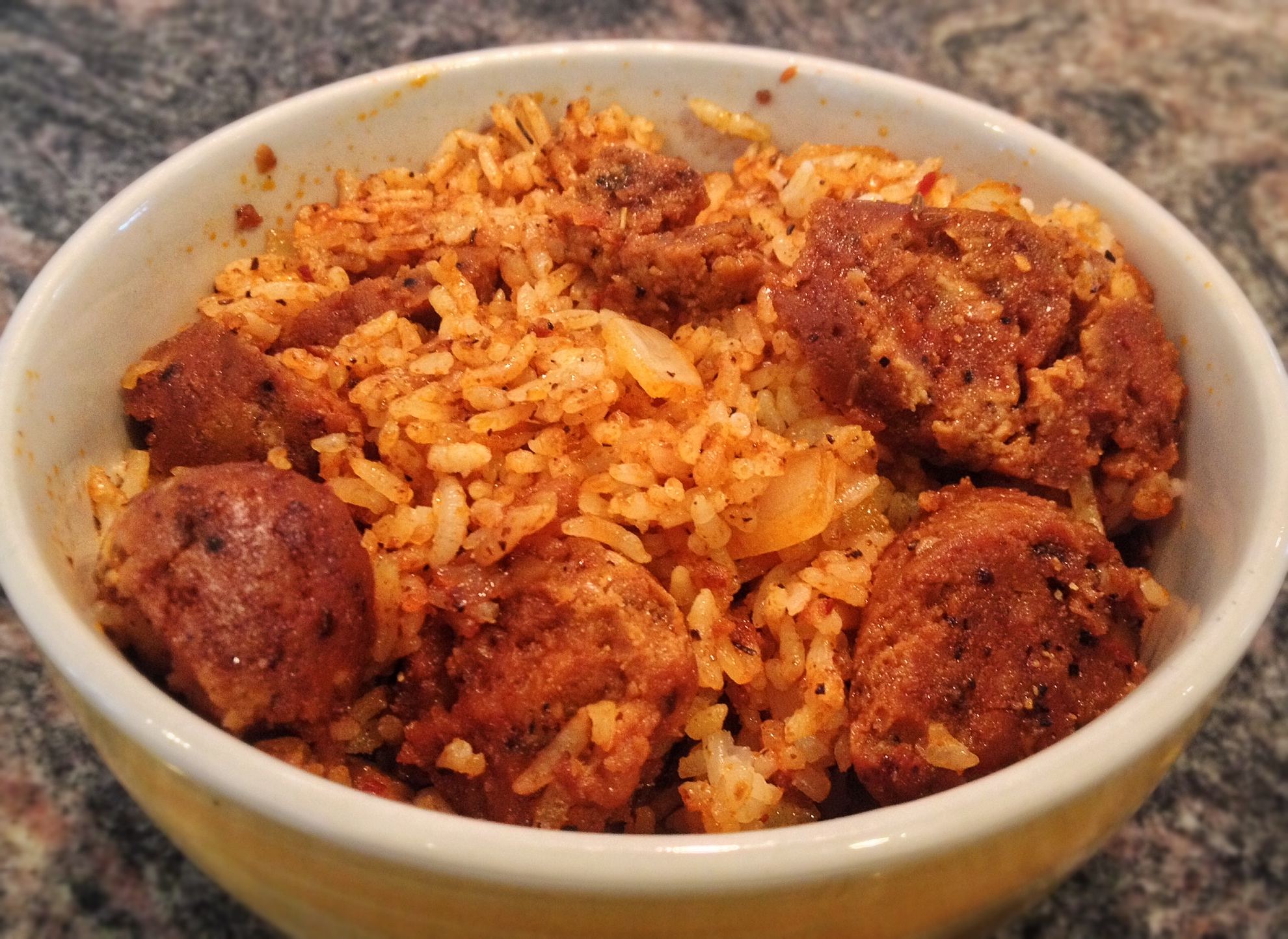 Cajun Style Rice with Spicy Sausage
