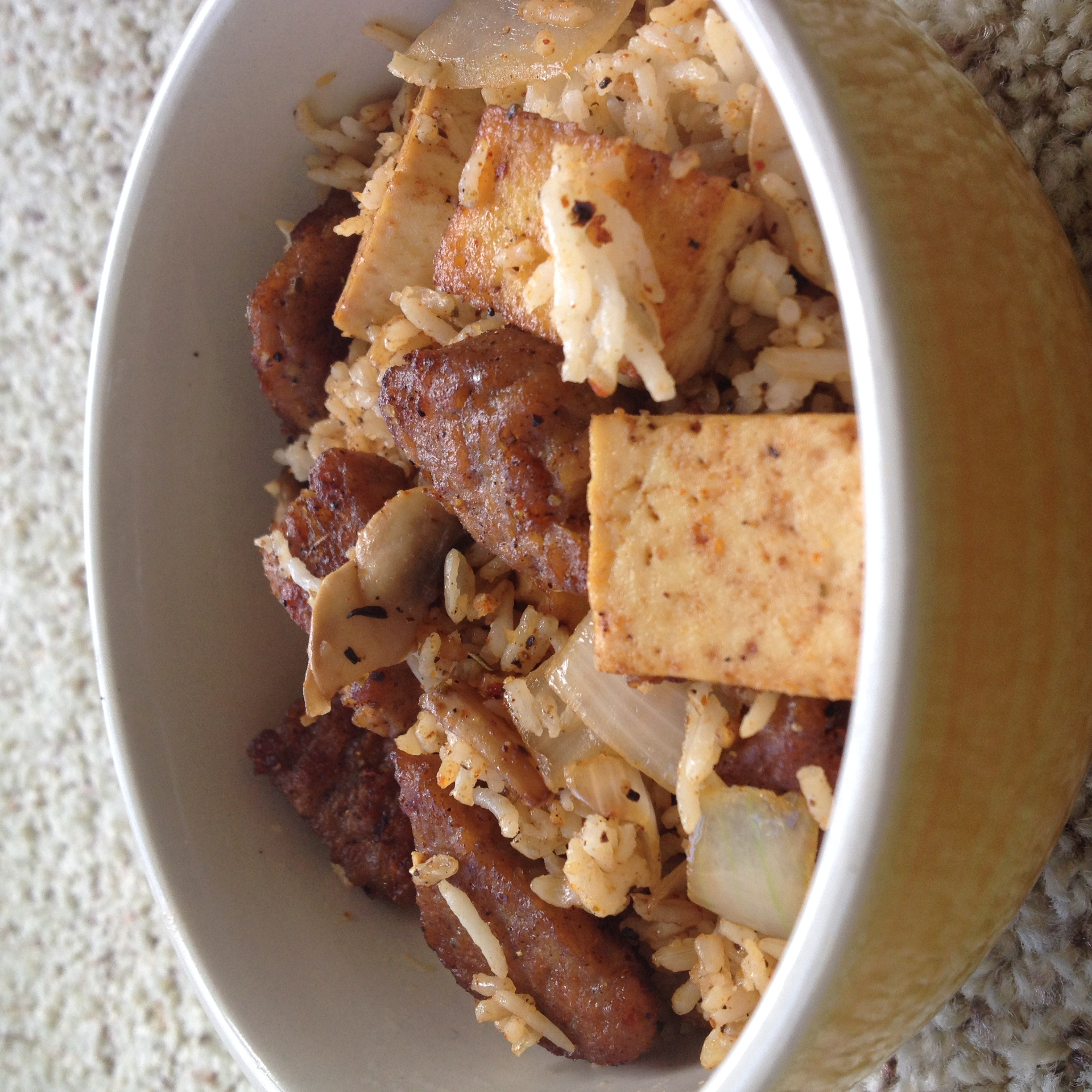 Fried Rice with Tofu and Gimme Lean® Sausage
