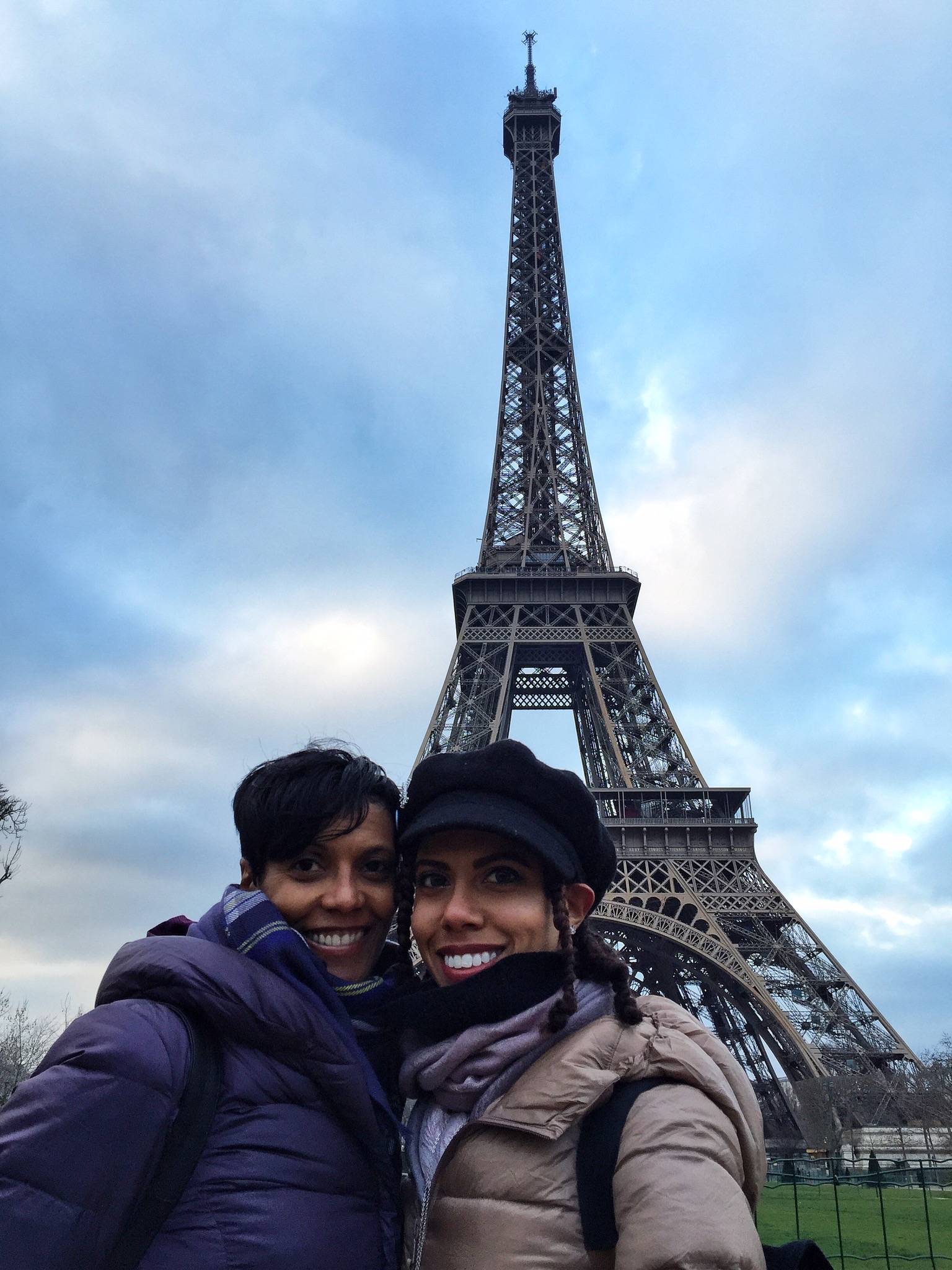 Kamaal and I in front of the Eiffel Tower