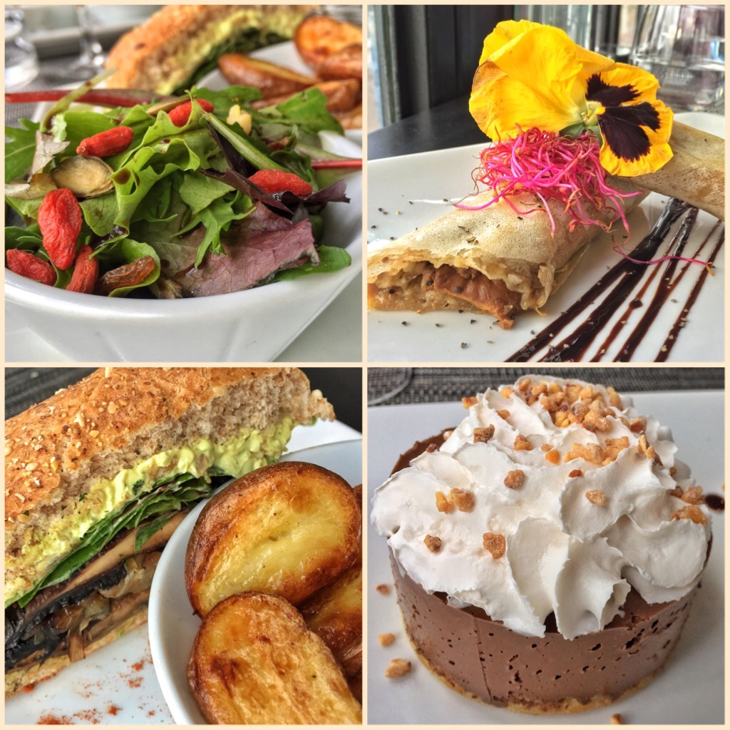 Our meal at The Gentle Gourmet Cafe