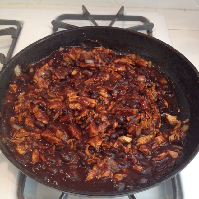 BBQ Black Beans and Chik'n Over Rice - Step 2.JPG