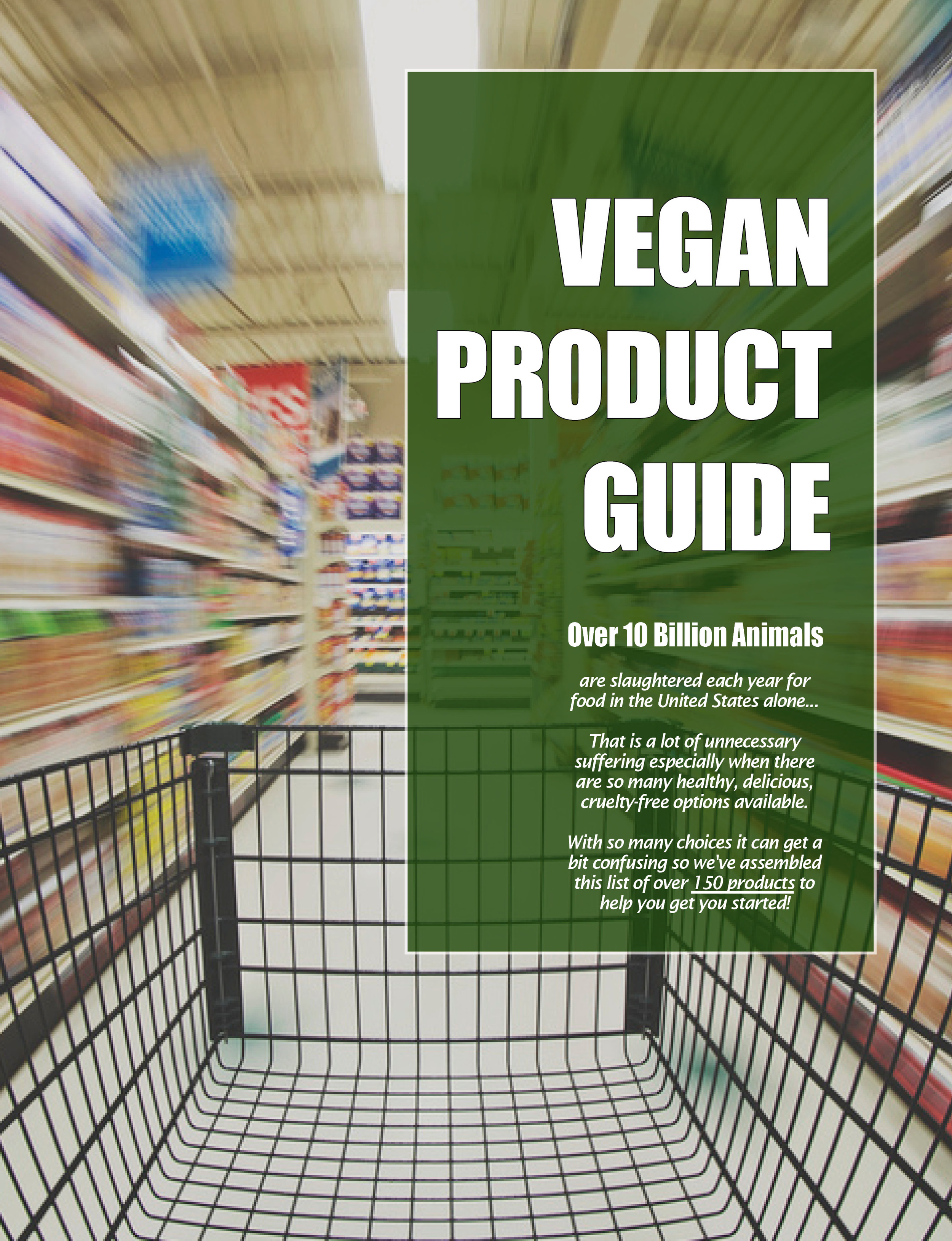 Free  Vegan Product Guide ! Fill out the form to download the PDF.
