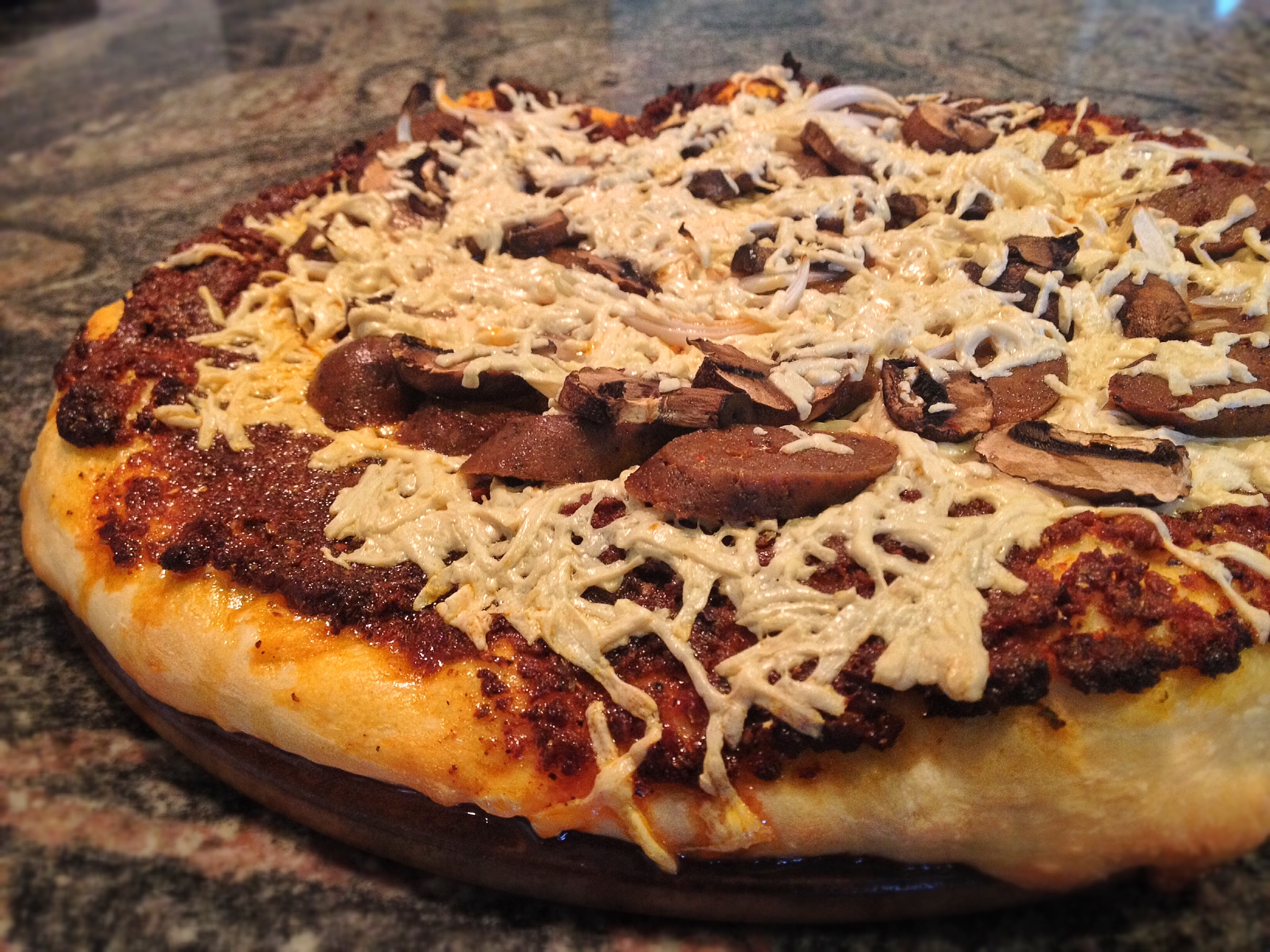Deep Dish Pizza with Italian Sausage