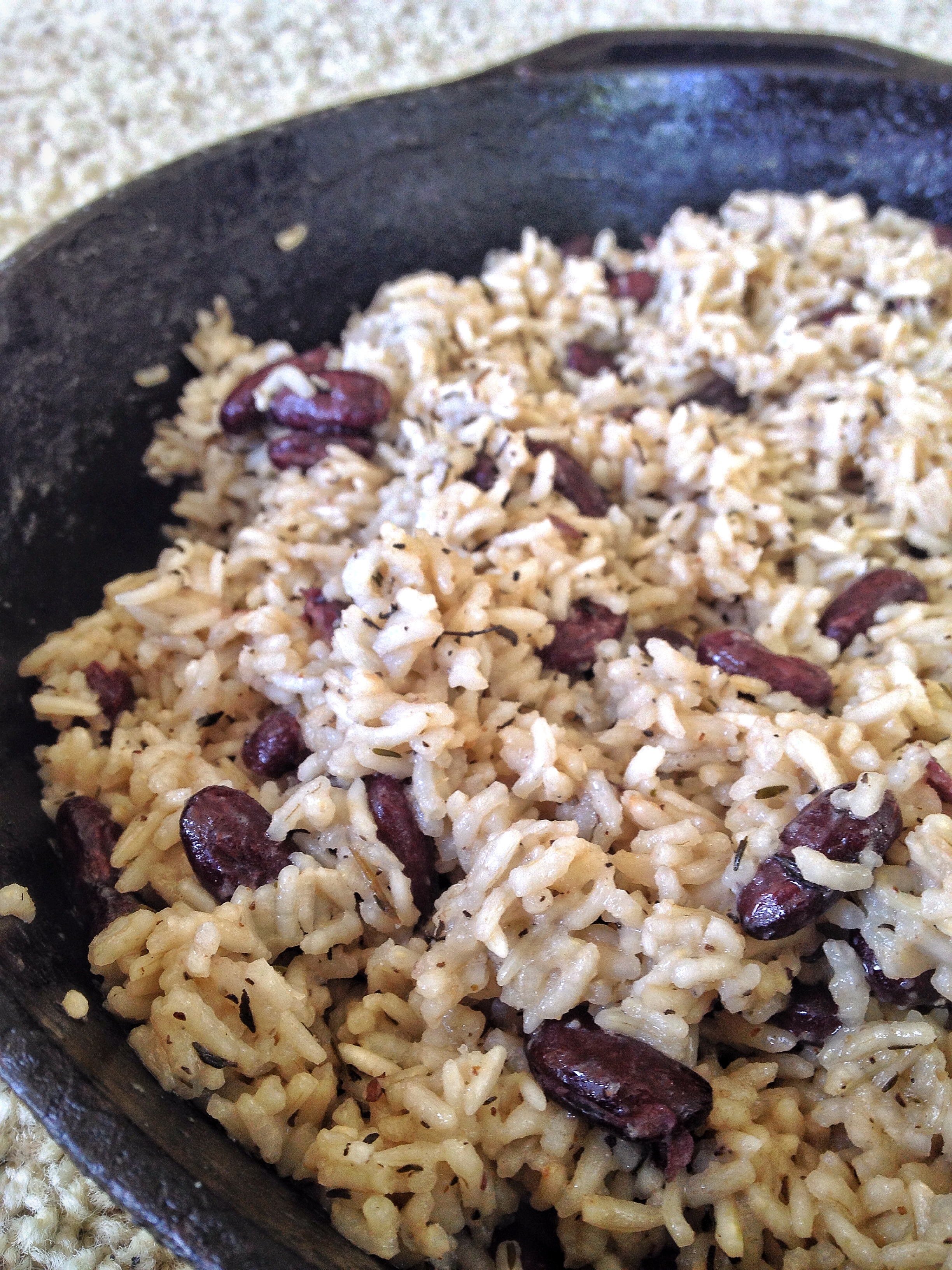 Coconut Rice with Red Beans