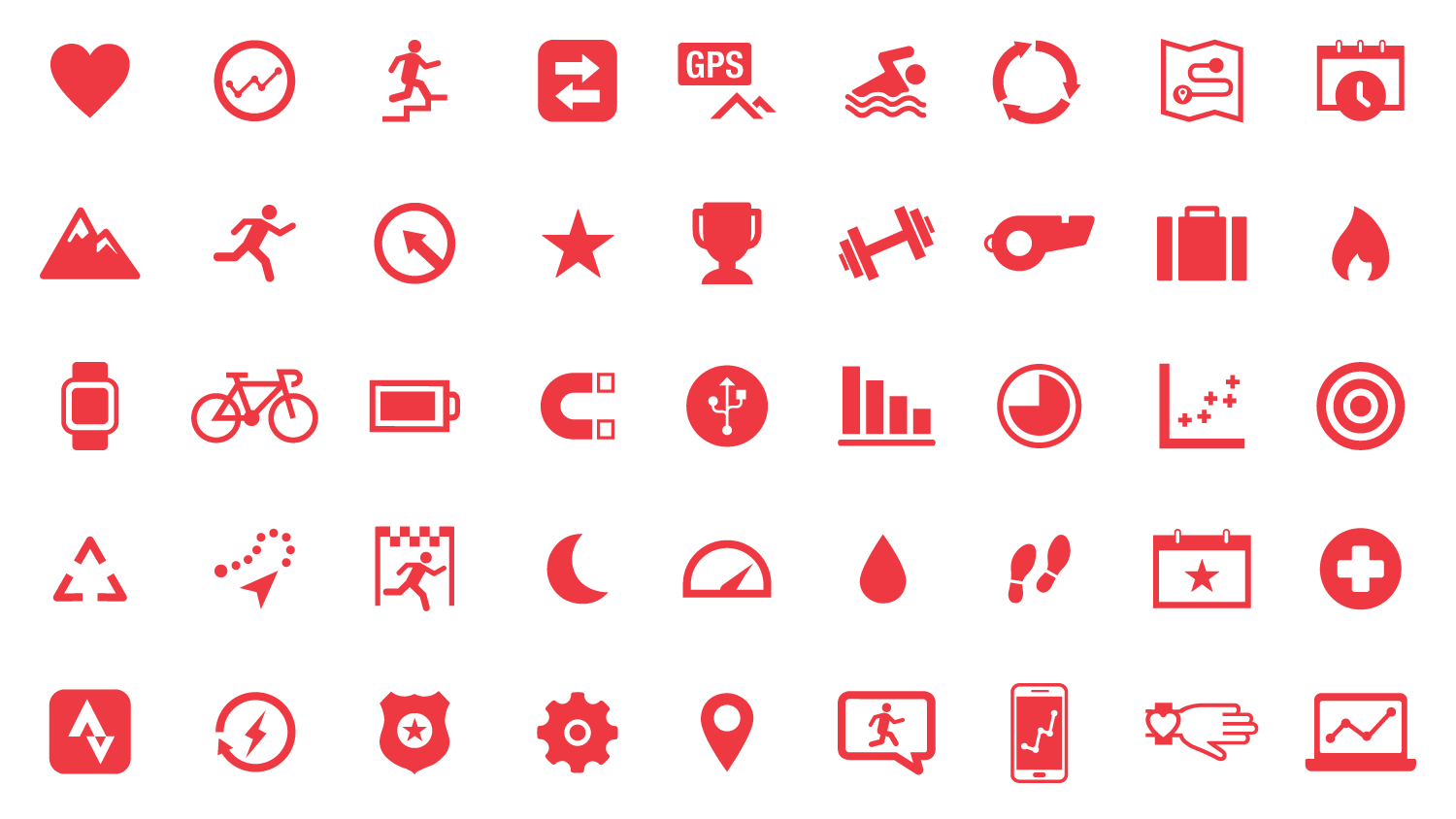 Iconography I created for the brand to use on their website