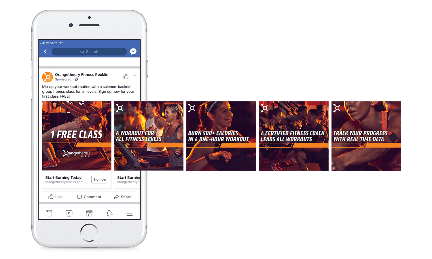 Facebook and Instagram lead generation campaign, carousel ad