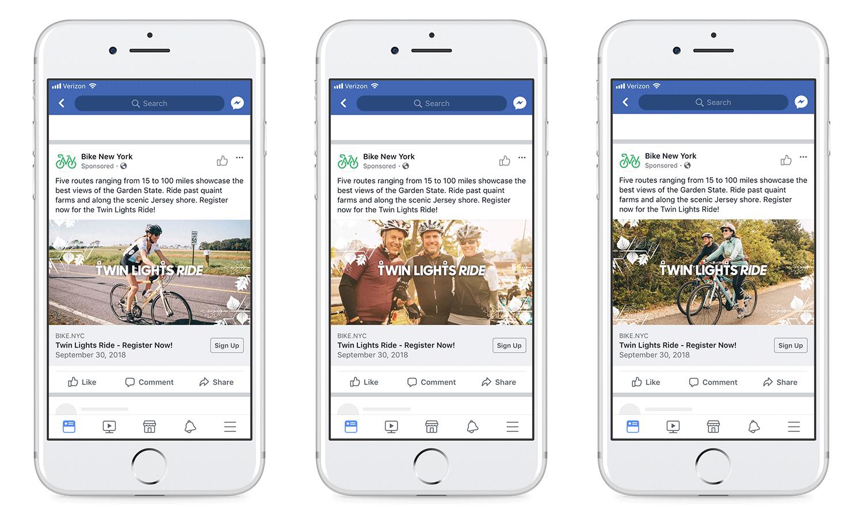 Facebook campaign, static ads