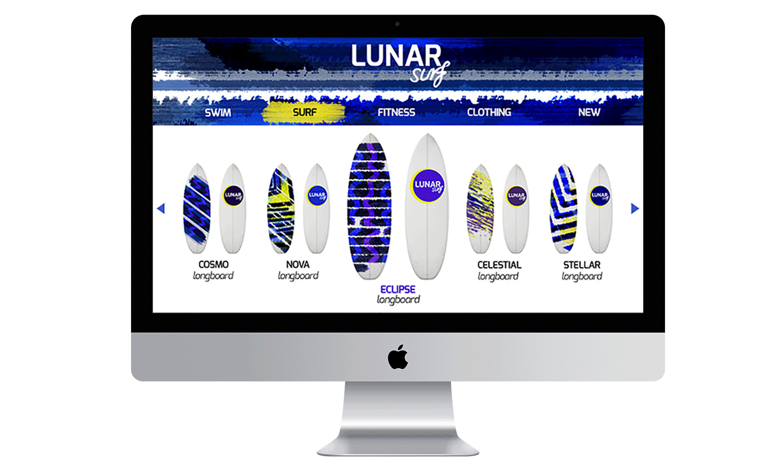 Surfboard landing page