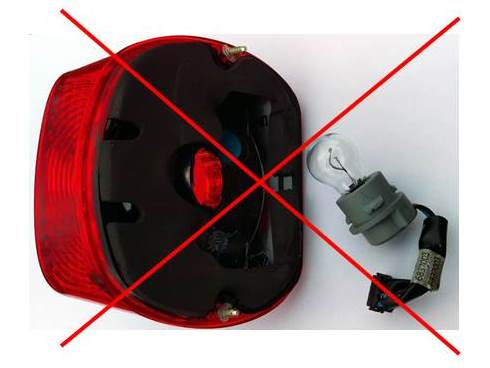Does Not Fit Rear Loading Light Housings - Stoptix lamps diameter is too large to fit through this one inch diameter opening.