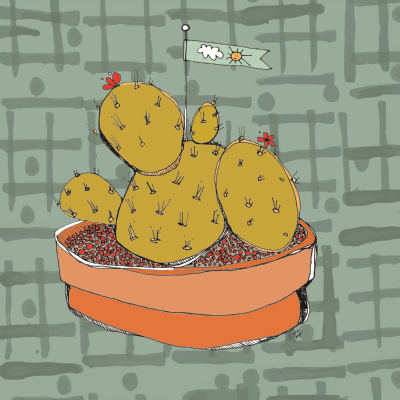 """cactus love"" - fartin' around on Photoshop this morning..."