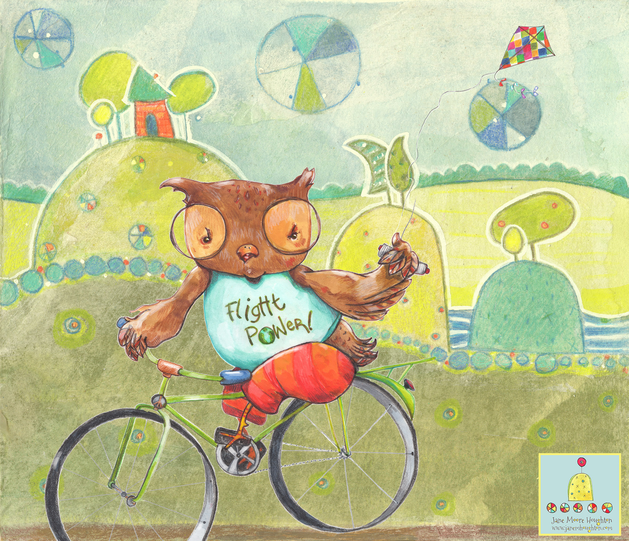 Owlie open eyes bicycle.jpg