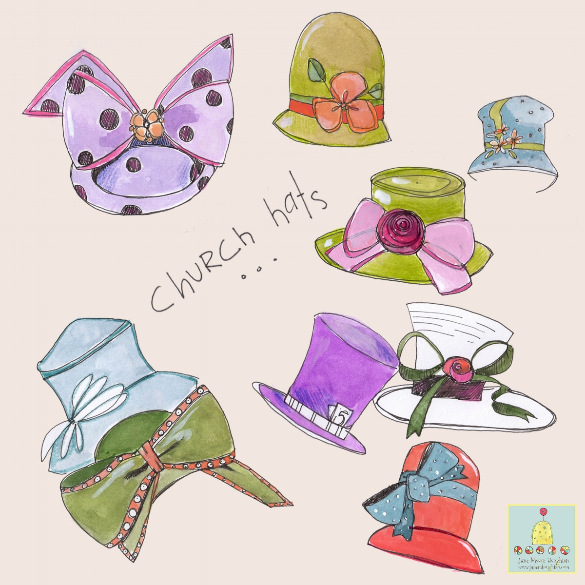 """Lilla gives us daily warm-up assignments. This was my """"hats"""" practice."""