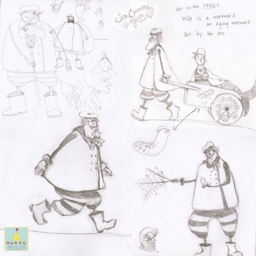 some preliminary pose sketches