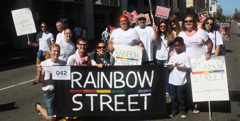 RAinbow Street at the 2014Oakland Pride Parade
