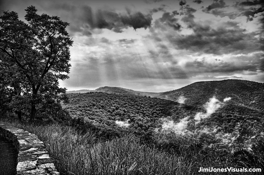 Rays of Light - B&W