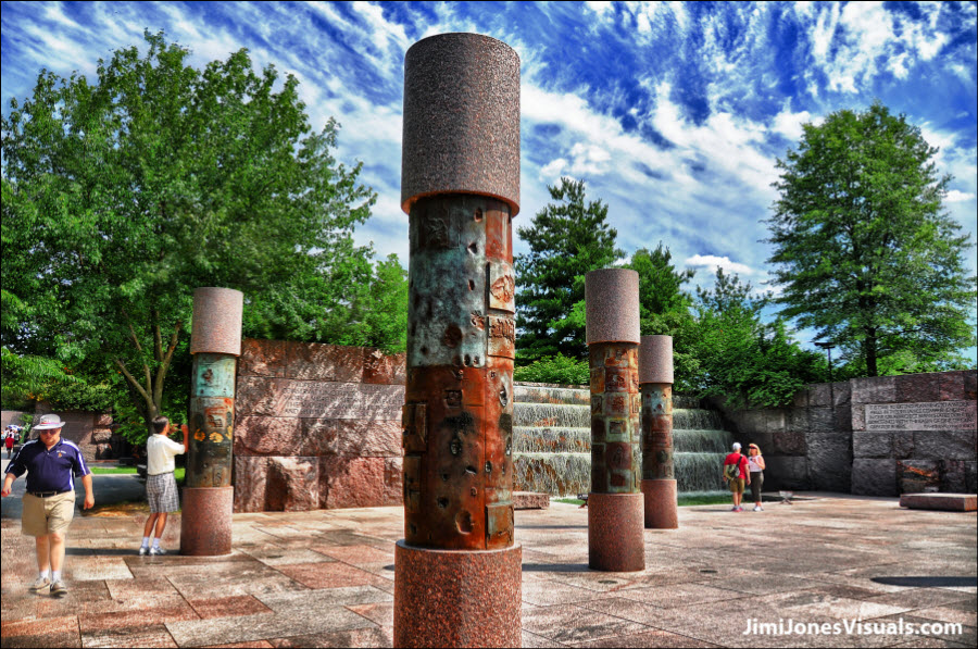 FDR Memorial Columns