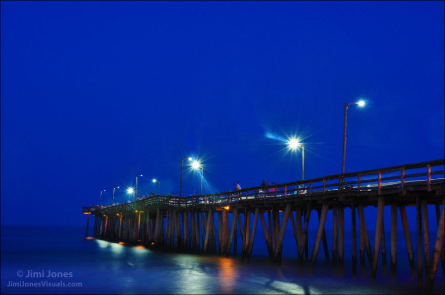 Night Fishing on the Pier