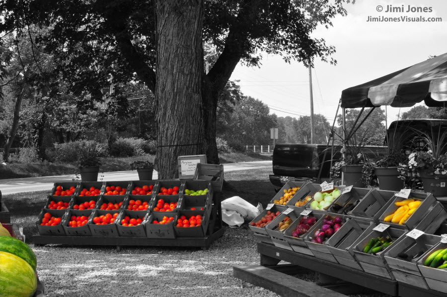 Produce Stand - Selective Color